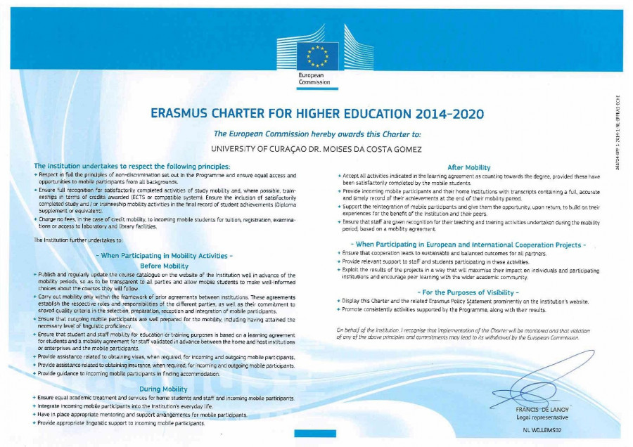 Erasmus Charter & Policy Statement