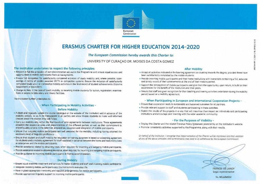 Erasmus Charter & Policy Statement