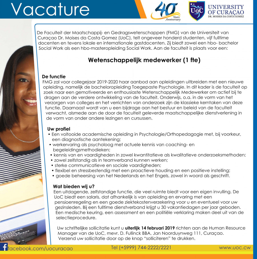 Vacature WM Psycholoog - Orthopedagoog